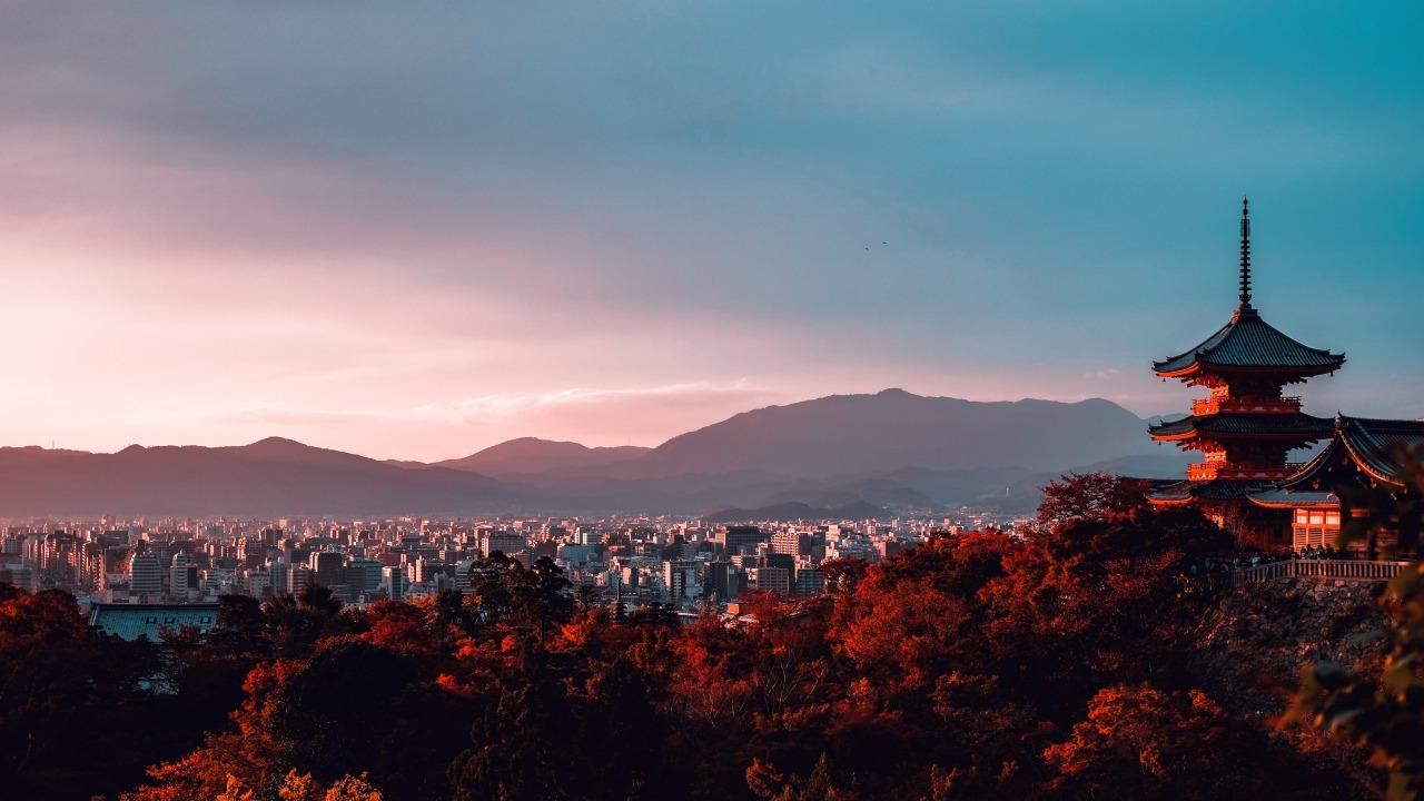 Kiyozumi Dera, Kyoto, Japan. Photo by Su San Lee on Unsplash. Published on December 23, 2018.