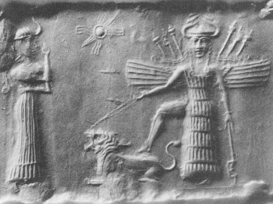 イナンナと彼女の召使ニンシュブールの画像の表示