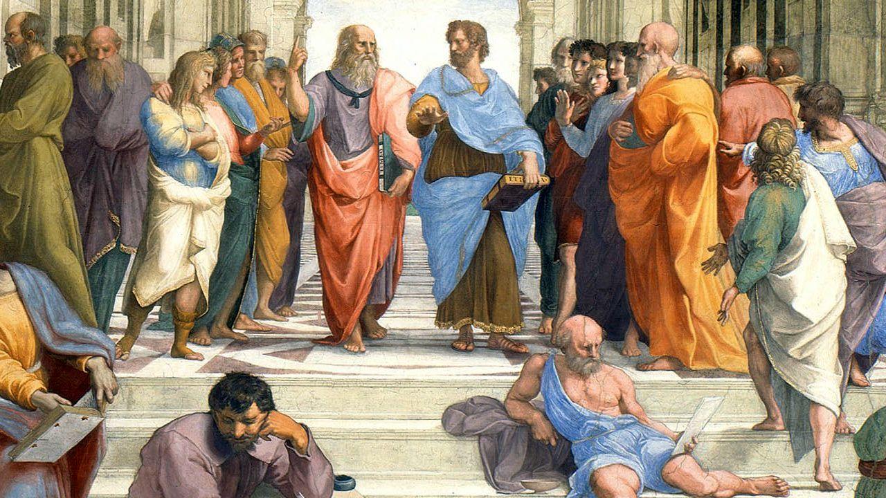 「アテナイの学堂」の画像の表示